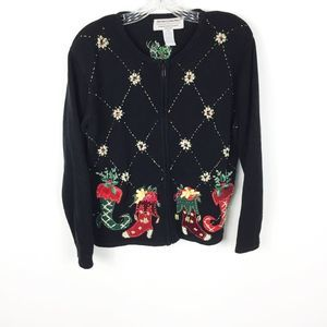 Vintage Holiday Red Green Ugly Christmas Sweater